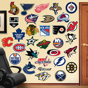NHL Logo Collection Fathead Wall Decal